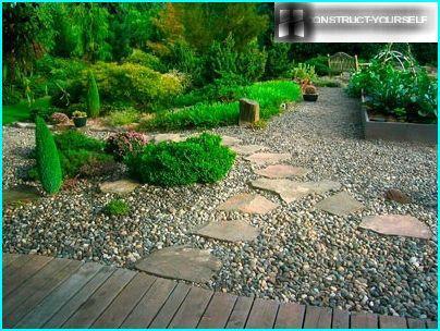 Trädgård Grus : Grus trädgård med sina egna händer hur du kan använda i