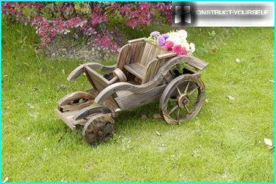 Retro wooden car