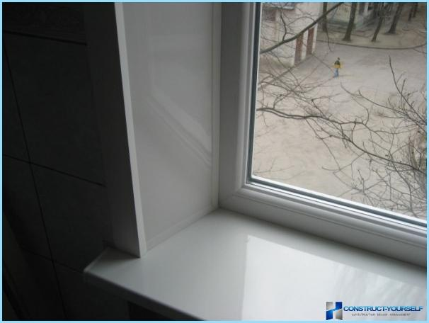 How to set the slopes on plastic Windows
