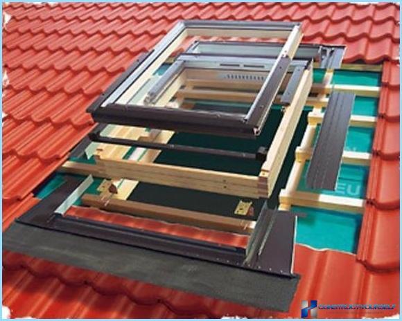 Jak zainstalować okna dachowe własnymi rękami