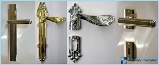 室内ドアへのハンドルの取り付け