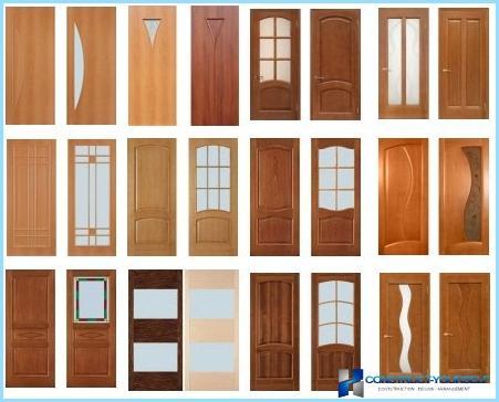 Indvendige døre lavet af fyr