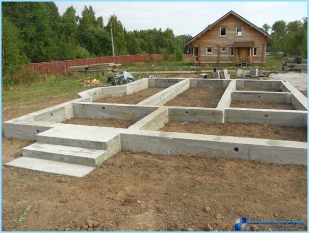 Andele af beton til fundamentet