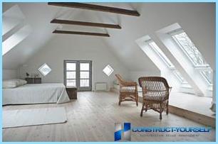 Пристрій двосхилим мансардного даху