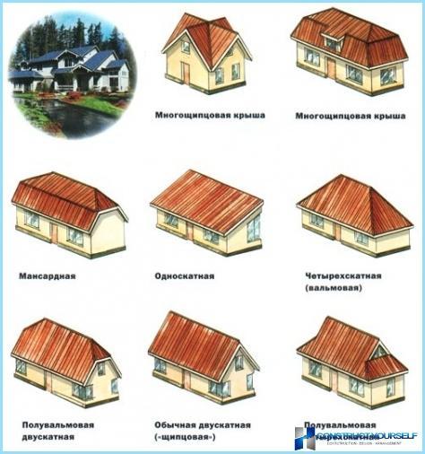 Tipi di tetti di case private