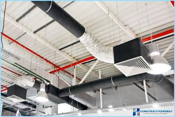 Princippet om ventilation i en bygning