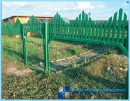 自分の手でメッシュの網からフェンスを設置する方法