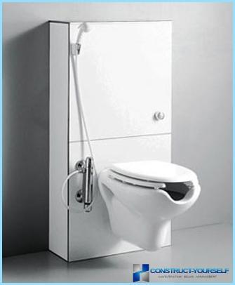 Væggehængt toilet med bidet-funktion