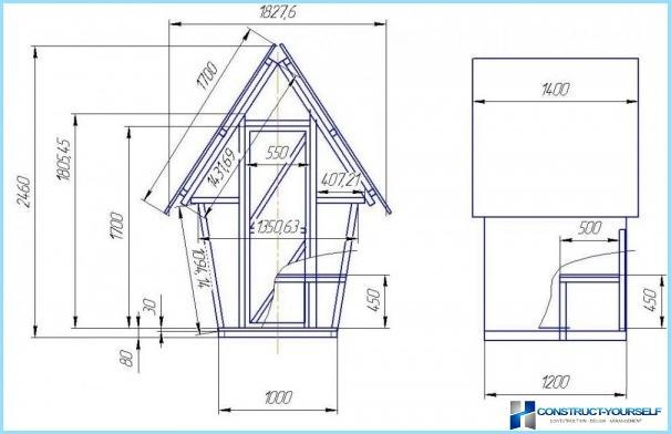 田舎のトイレのプロジェクト、図面、スキーム