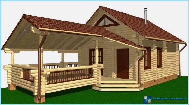 Vannas ar verandu zem viena jumta projekts