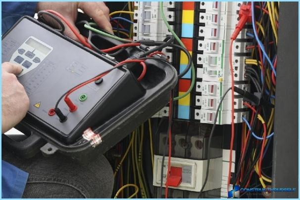 Elektrikere projekt i et privat hus