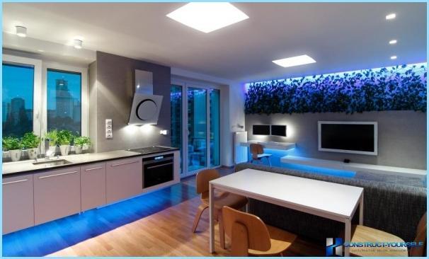 Gaismas diožu apgaismojums gaitenī, zālē, virtuvē dari pats