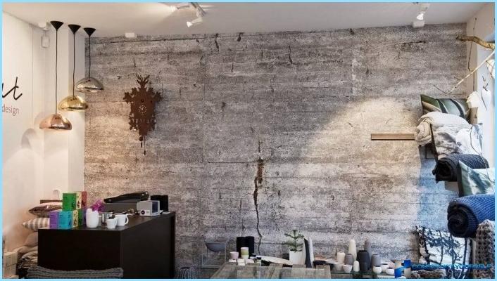 Betona imitācija ar dekoratīvo apmetumu