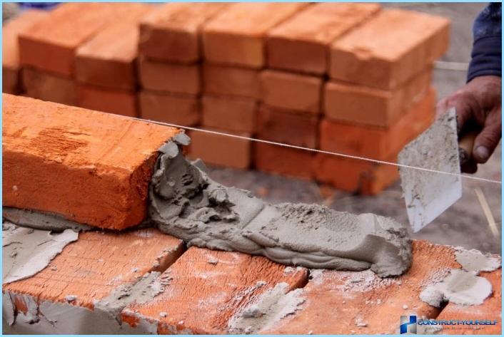 Sådan ælges mørtel til mursten korrekt