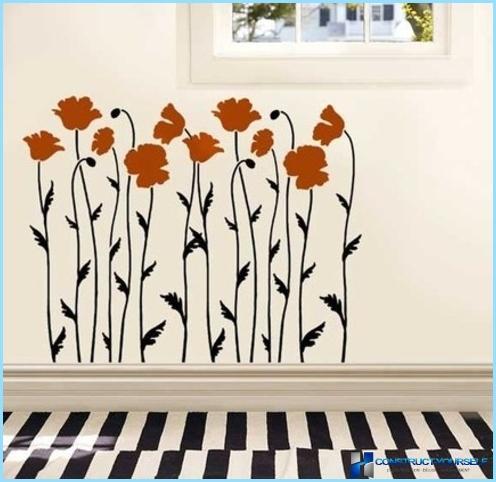 Pittura murale decorativa di seta