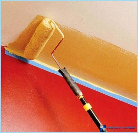 Ūdens bāzes krāsa sienām un griestiem, uzklāšanas tehnoloģija