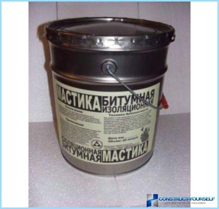 DIY mastikas bitumena aukstā lietošana