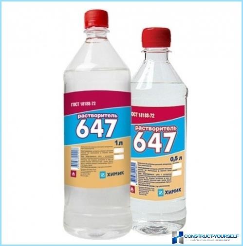 Solventi 646, 647, p 4, caratteristiche tecniche, la differenza tra loro