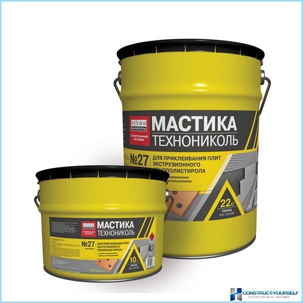 Mastice bituminoso Technonikol, specifiche tecniche