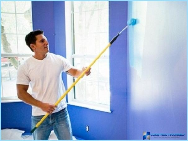 Glossy paint for walls and ceiling drywall, plastic, wood