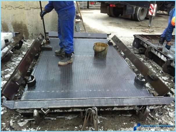Concrete slab road, hollow, flat, plate coatings