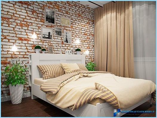 Design camera da letto in stile loft