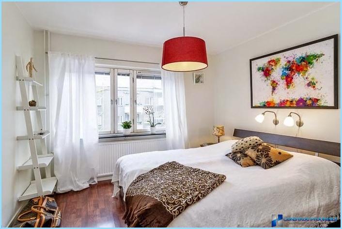 Skandināvu stila guļamistabas dizains