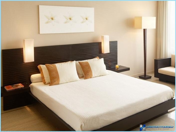 Design della camera da letto in stile minimalista