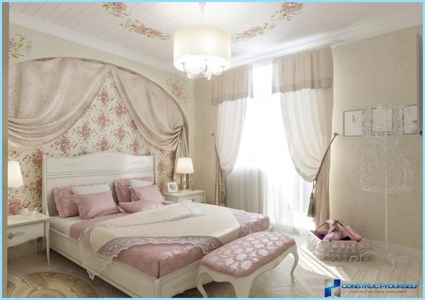 Provansas stils guļamistabas interjerā