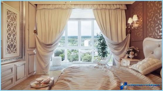 Dizaina aizkari guļamistabai