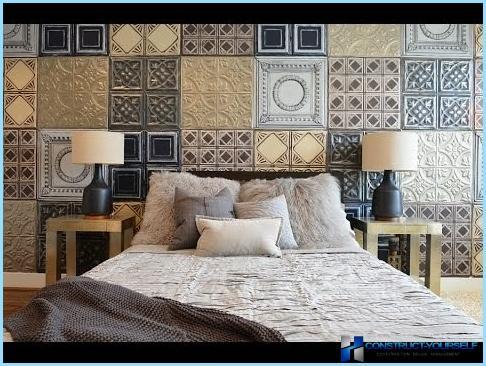 Bēniņu stila guļamistabas interjers