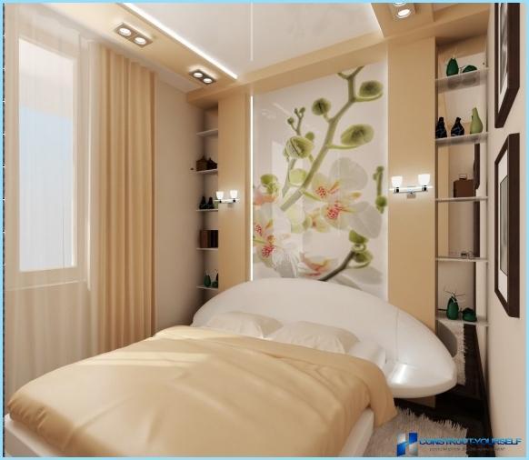 Noformējiet nelielu guļamistabu