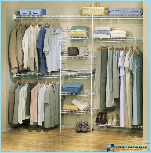 Oppbevaringssystemer for garderoben: aristo, larvage, alf, mesh