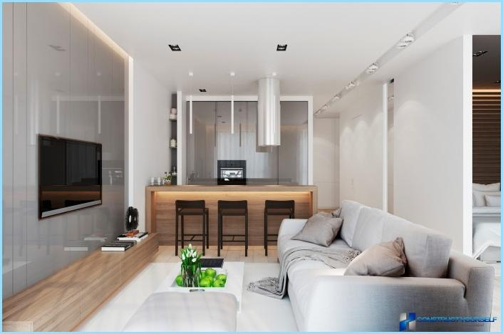 Design Living Room With Kitchen 18 20 25 Sq M Photo