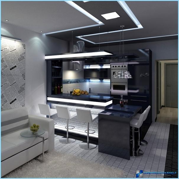 Progettazione Di Un Soggiorno Combinato Con Una Cucina Di 18 20 25 Mq Foto