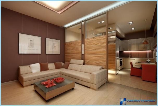 Design af en stor stue kombineret med køkkenet