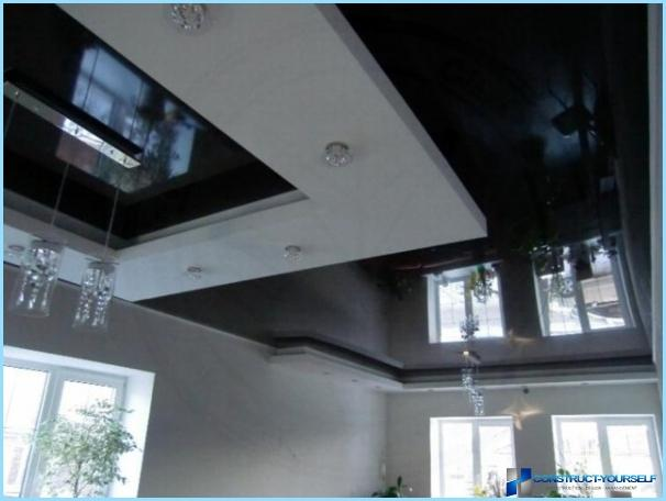Ceiling design in room with photo