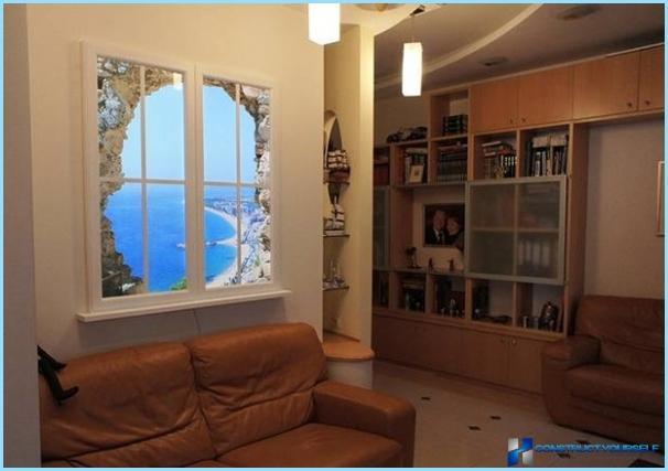 Carta fotografica in un interno di un salotto