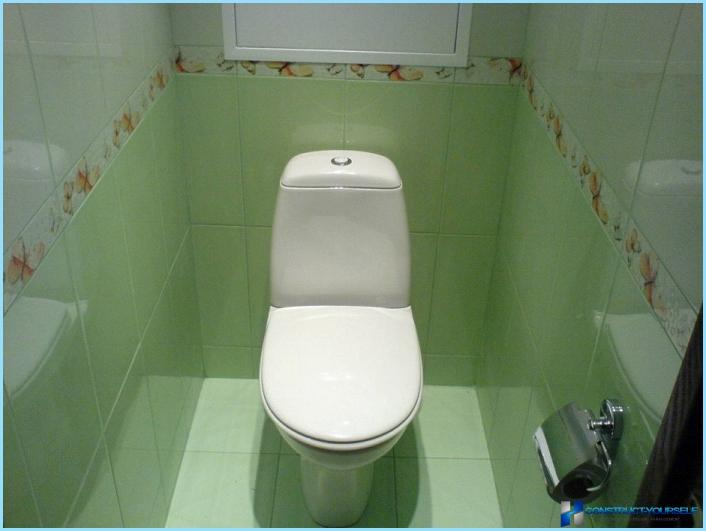 Trim toilet plastic panels with their hands