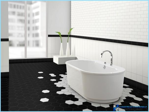 Design black and white bathroom
