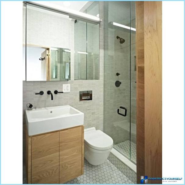 Design af et lille bad 3 firkanter med fotos