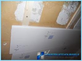 The installation of panels PVC in the bathroom with their hands