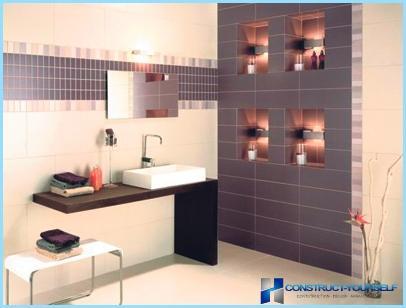 Das Badezimmer mit Fliesen dekorieren (Foto)