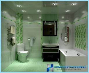 קישוט חדר האמבטיה באריחים (תמונה)