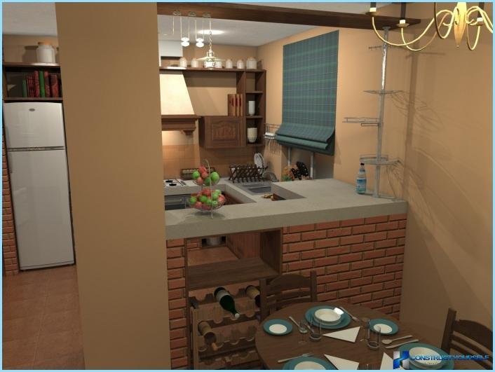 Niche in the interior of the kitchen