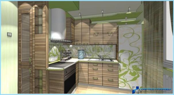 Virtuves dizains ekoloģiskā stilā.