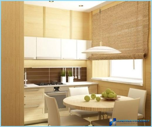 Kitchen design in eco style
