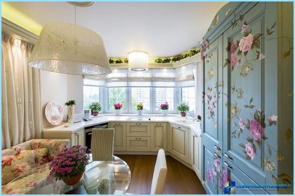 Kitchen with Bay window: modern design ideas