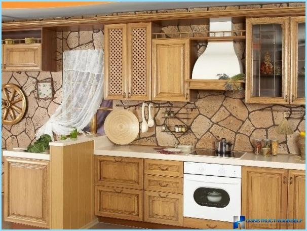 Kitchen interior in rustic style