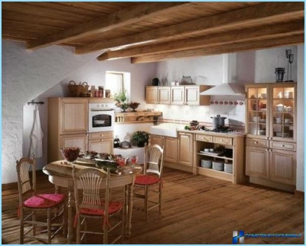 Rustik køkkenindretning